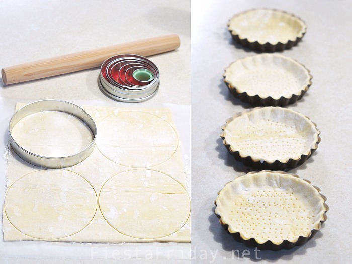 Prevent puff pastry from rising too high by pricking it with a fork - FiestaFriday.net