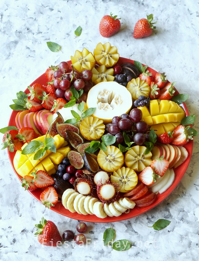 Fruit Platter | FiestaFriday.net