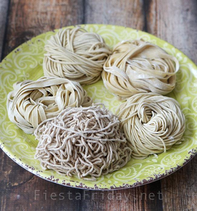 Homemade Chinese Noodles | FiestaFriday.net