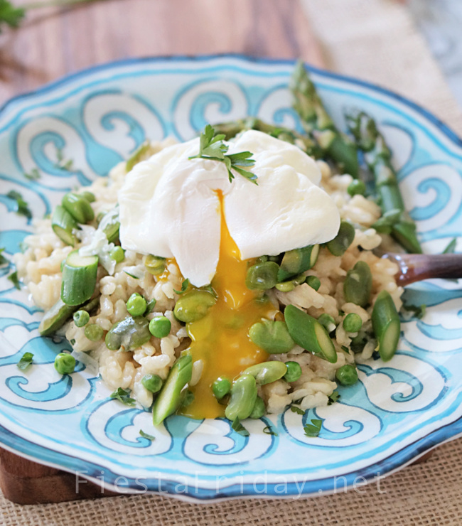 Risotto with Spring Vegetables | FiestFriday.net