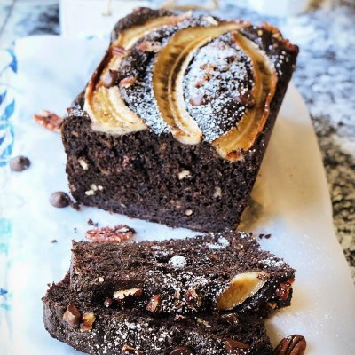 Dark Chocolate Espresso Banana Bread