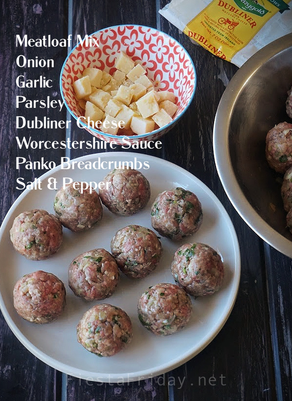 How To Make Stuffed Meatballs | FiestaFriday.net