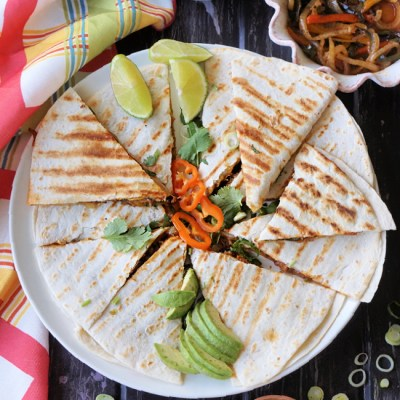 Pineapple Margarita Chicken Quesadillas