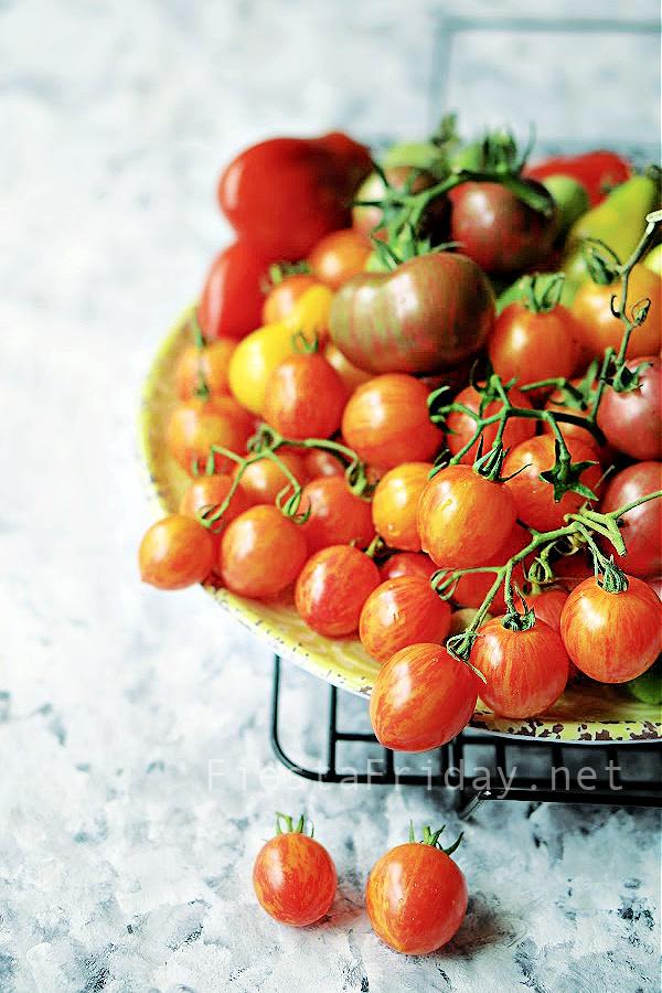 Sunrise Bumble Bee Tomatoes | FiestaFriday.net