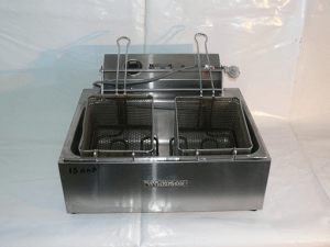 Benchtop Double Electric Fryer 10amp
