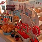 Mesa dulce o candy bar viajes