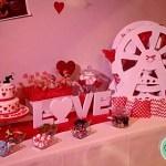 Fiesta boda temática corazones