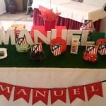 Mesa dulce o candy bar Fútbol atlético de madrid