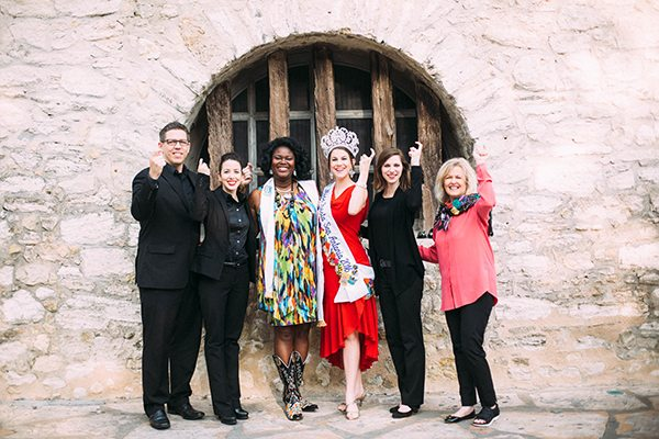 Miss Fiesta Madi Moad-Hageman's community engagement platform brings American Sign Language (ASL) Interpreters to public speaking Fiesta events.