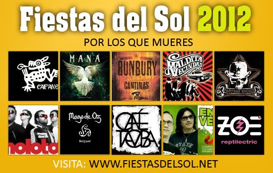 calendario fiestas del sol 2012