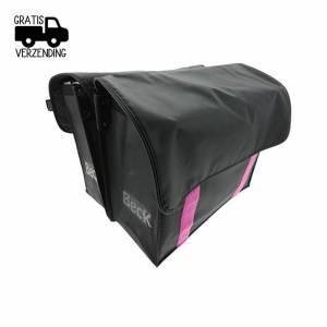 Dubbele Fietstas Velcro Pink
