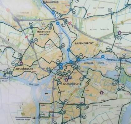 Plano LF del área entre el Parque Nacional De Biesbosch y los Molinos de Kinderdijk