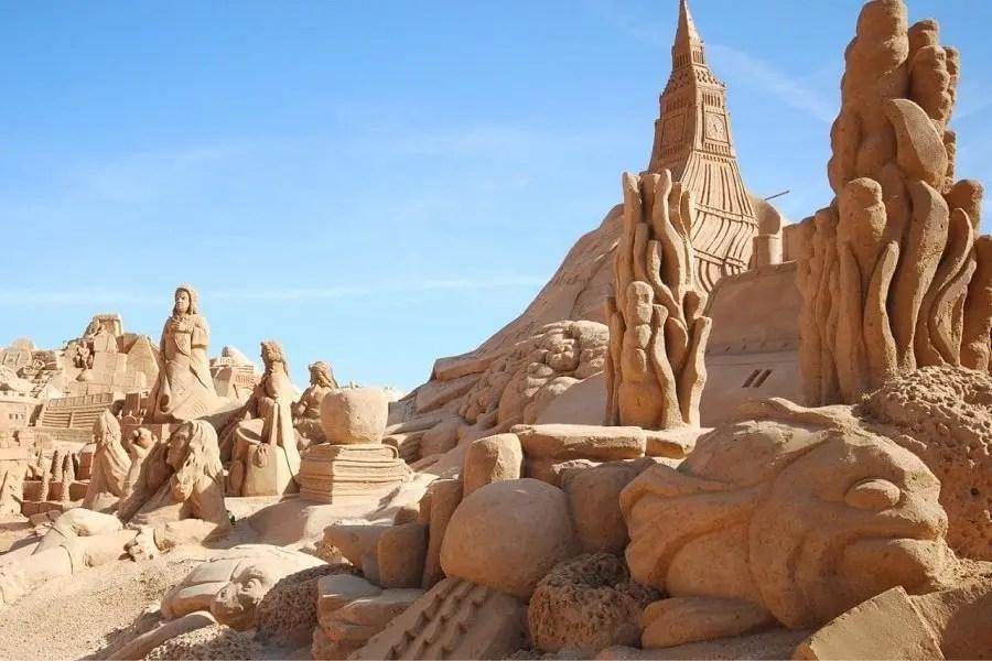 Esculturas de arena Portugal