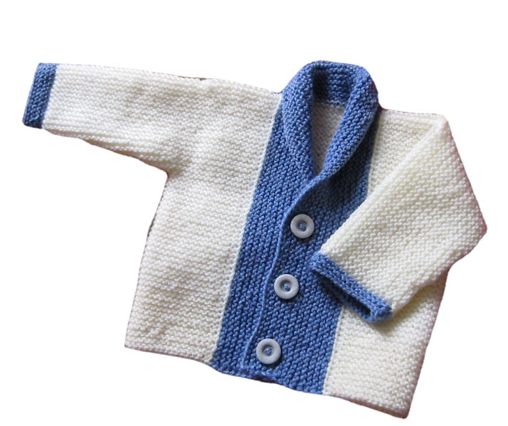 Fifalde's Baby Jacket  in Garter Stitch (1/4)