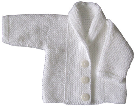 Fifalde's Baby Jacket  in Garter Stitch (3/4)