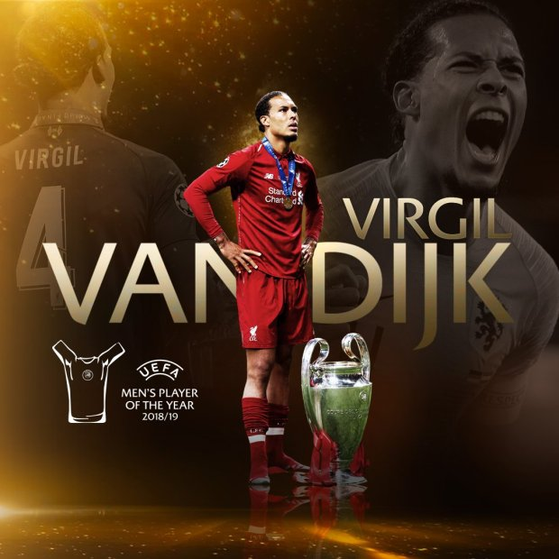 POTY Van Dijk Wins UEFA Men 8217 S Player Of The Year