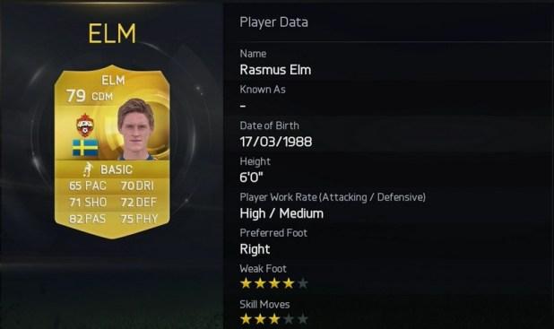 FIFA 15 - Rasmus Elm - CSKA Moscow