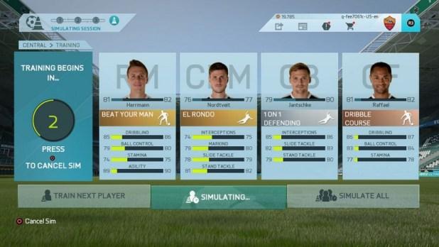 FIFA 16 Kariyer Futbolcu Antremanları