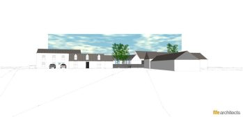 Fording Feasibility Study Elevation Perspective - Fife Architects