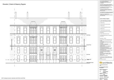 Queens Drive, Glasgow - Listed Building Consent Elevation - Fife Architects