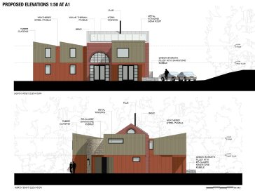 Elevations for Iron Mill Bay, new house design