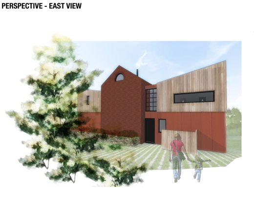Side view of Iron Mill Bay, new house design