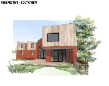 Rear elevation of new build house