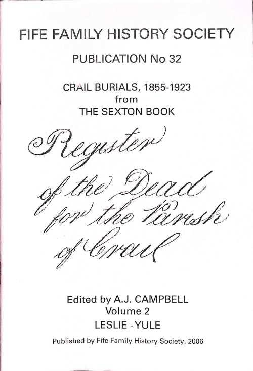 Publication 32, Crail Burials 1855-1923