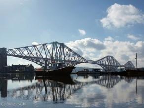 Reflections - Forth Rail Bridge and boat