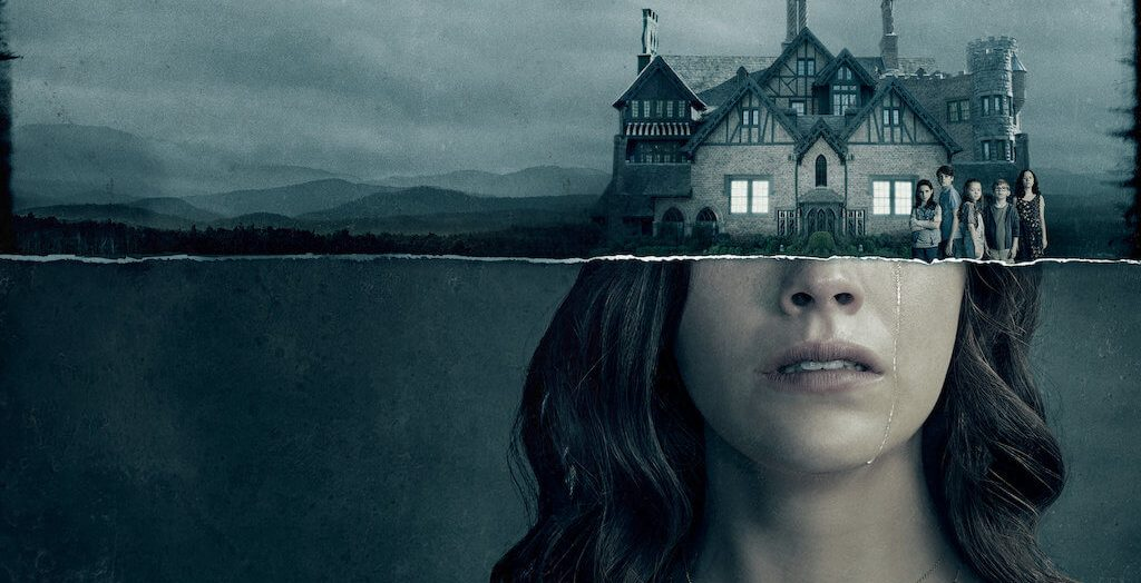 half face and half castle , The haunting season 1 poster.