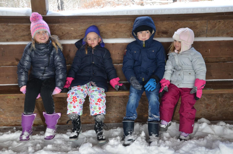 Winter walk at Skytop Lodge in Pennsylvania