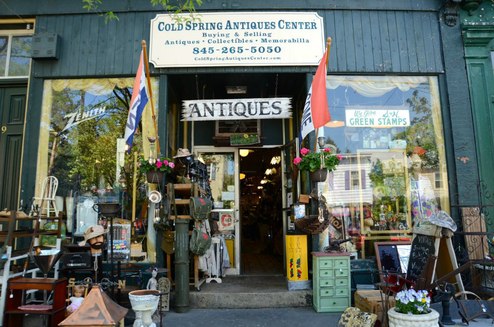 Shopping for antiques in Cold Spring, NY.