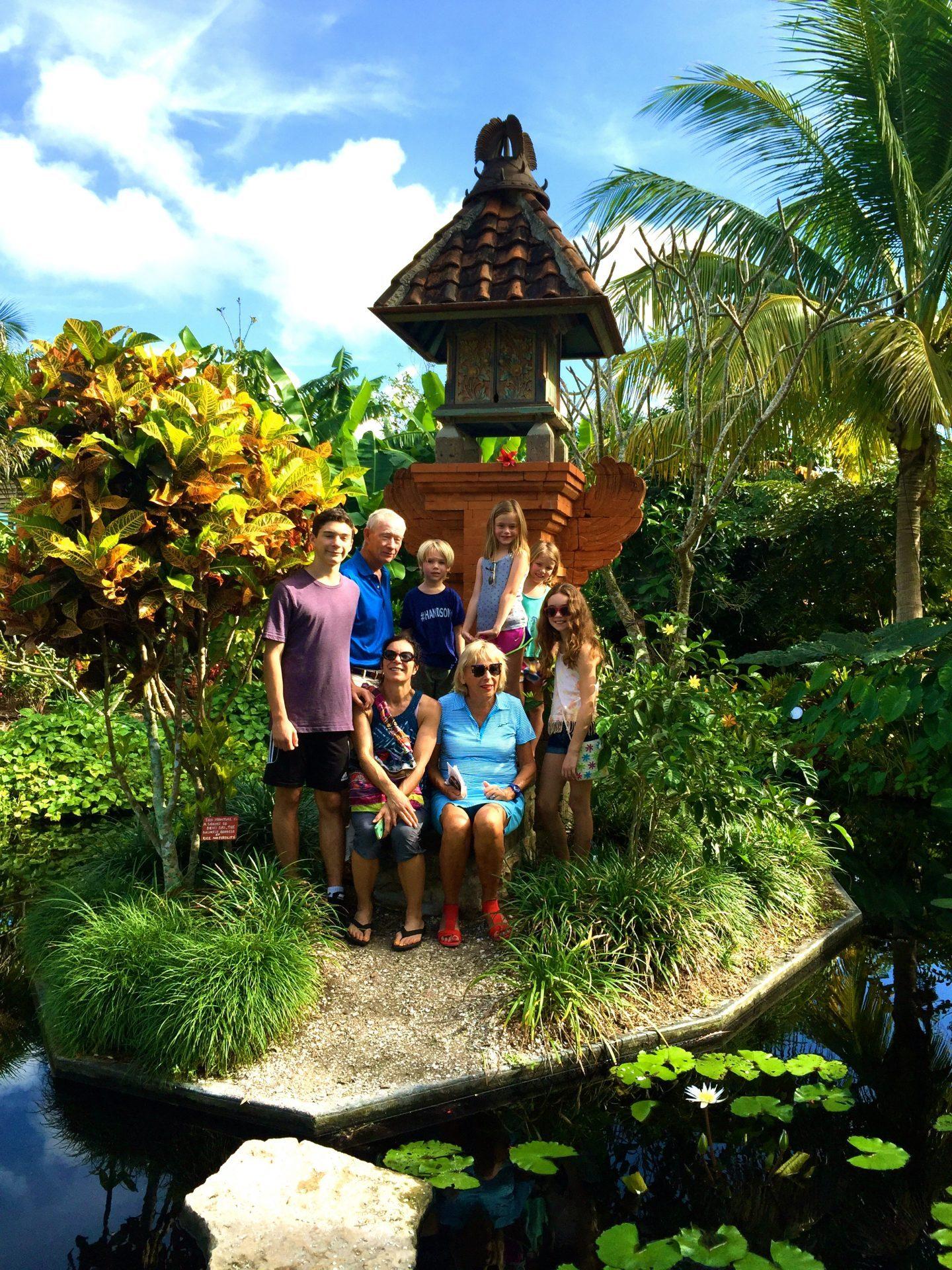 Family group shot at Naples Botanical Garden.