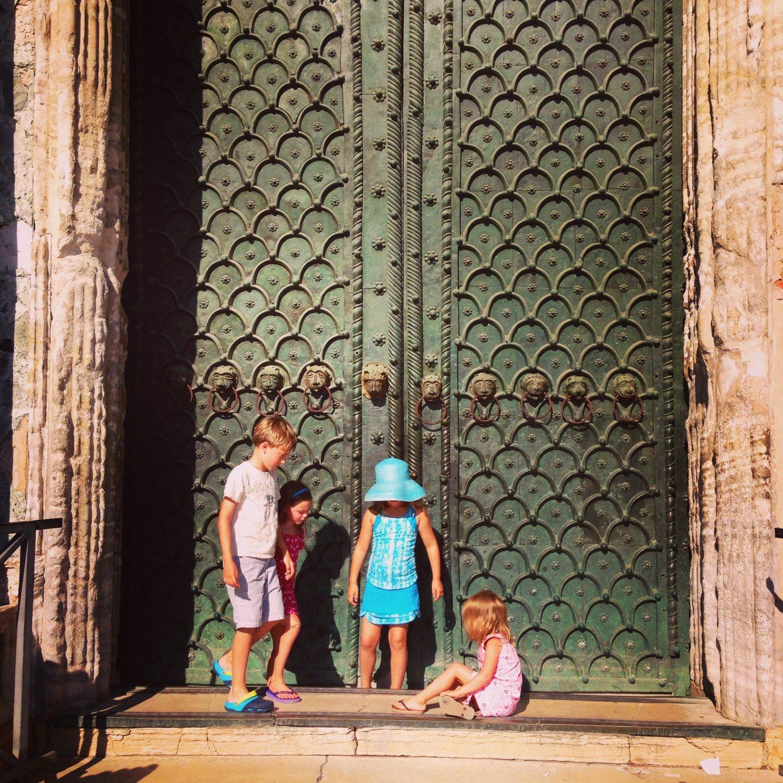 Doors of the Basilica in Venice, Italy.