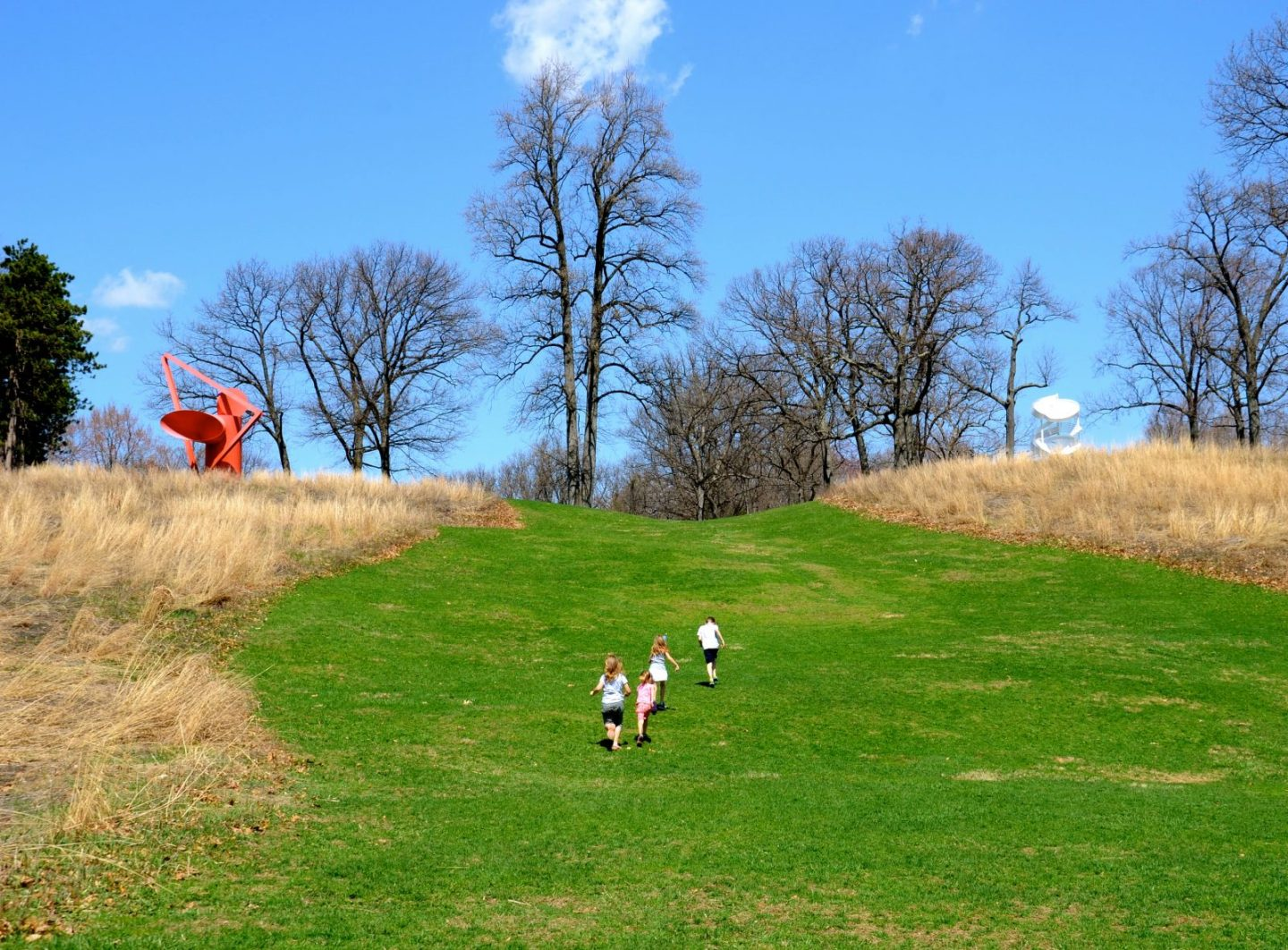 Running on the hills at Storm King Art Center in the Hudson Valley.