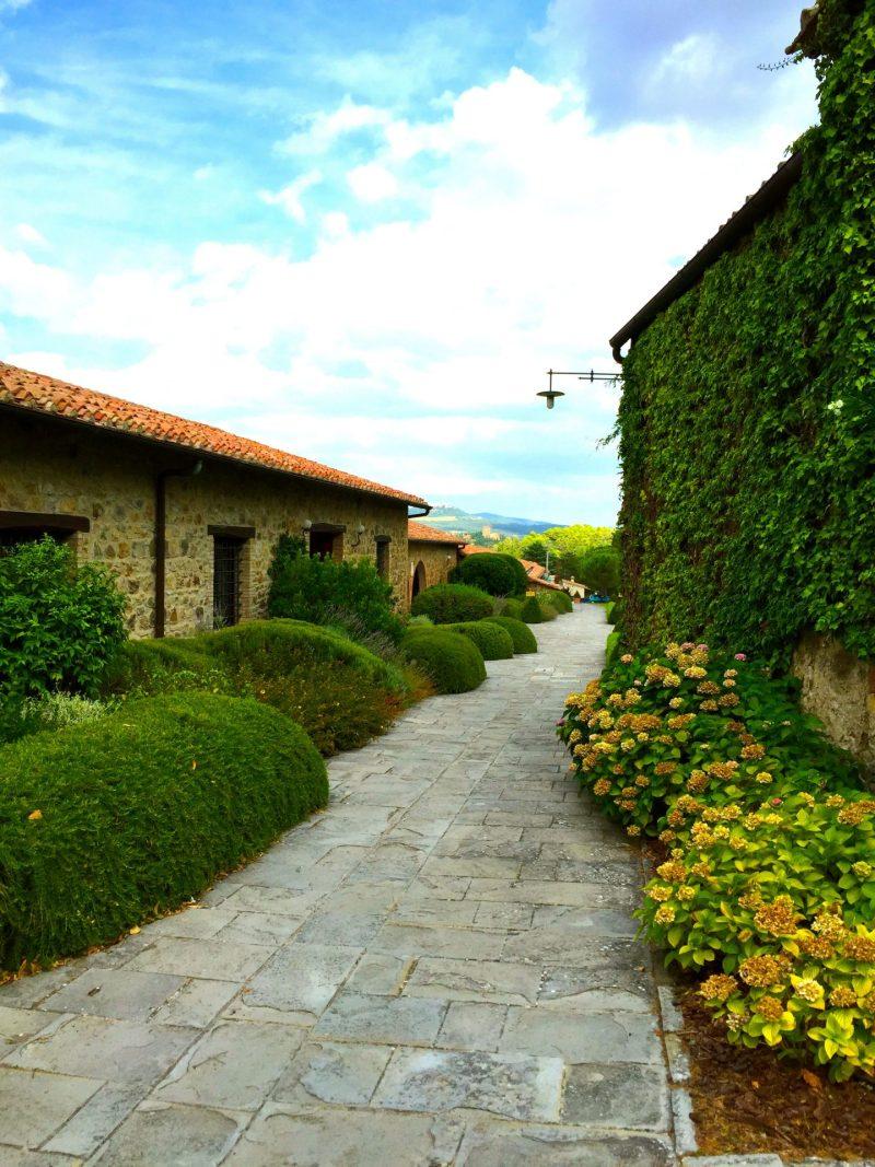 Entering Tuscan winery Banfi