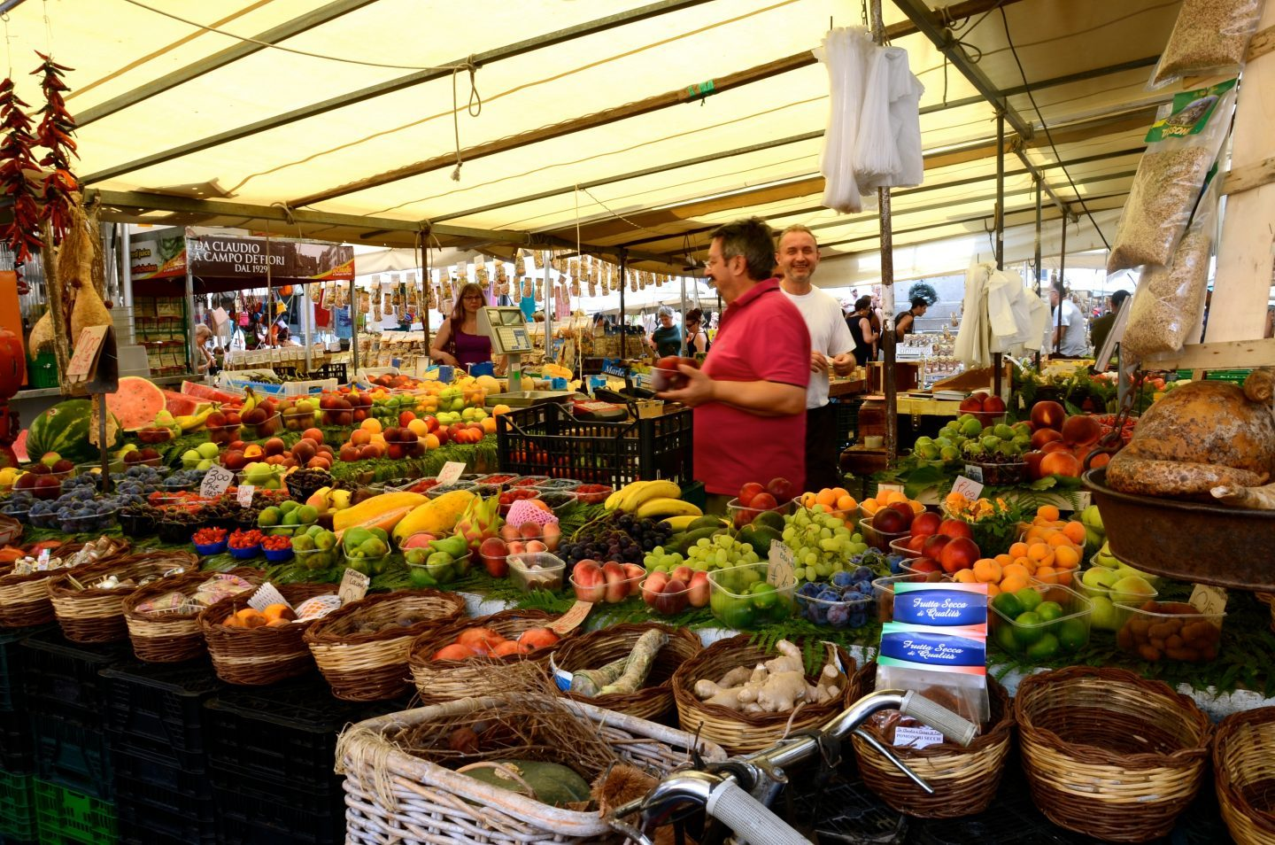 Market at Campo de Fiore in Rome.