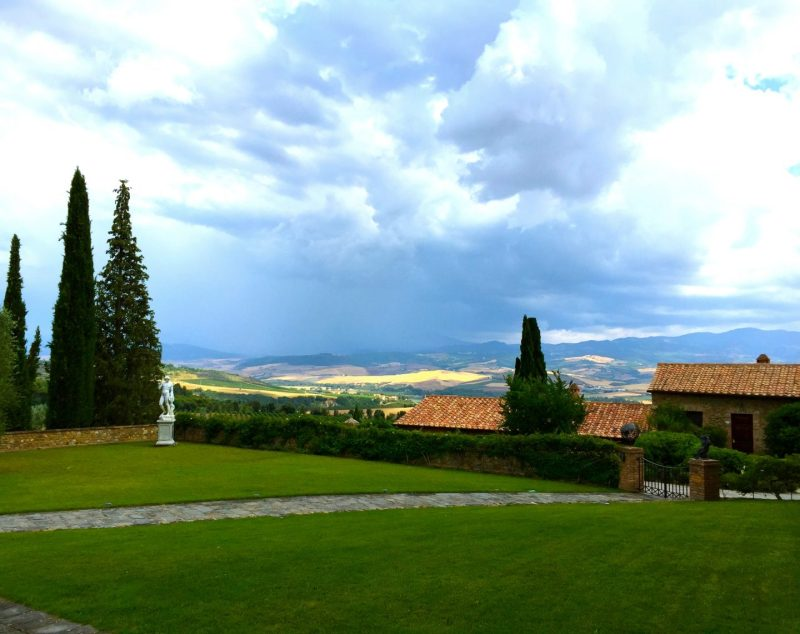 Walking around Tuscan winery Castello Banfi