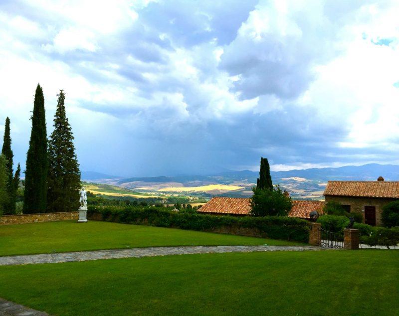 Walking around Tuscan winery Castello Banfi