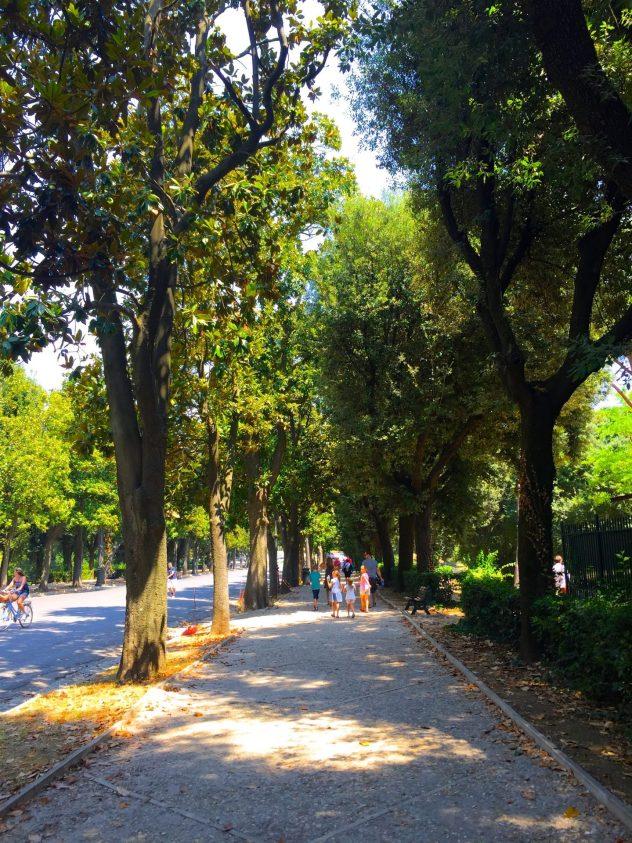 Exploring Villa Borghese in Rome.