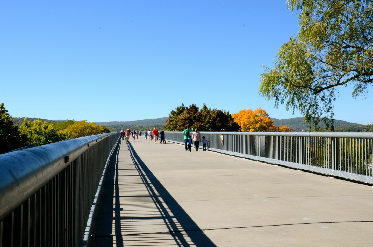 Taking a walk on Walkway over the Hudson.