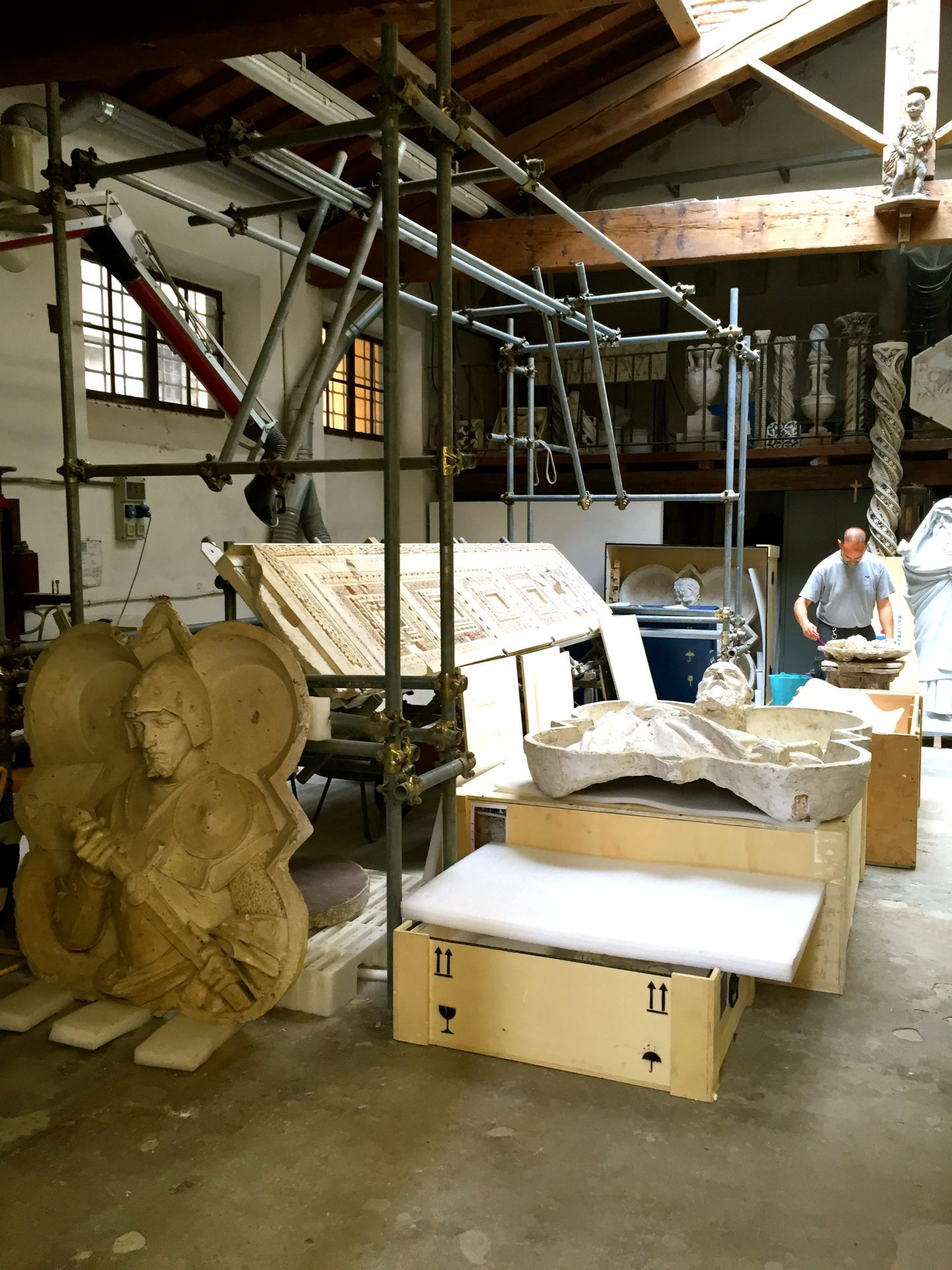 A peek at the workshop of the duomo in Florence