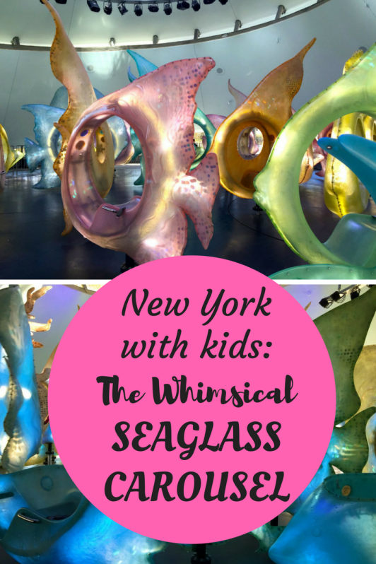 A unique experience for kids in New York Ciity is going for a ride on the Seaglass carousel in Battery Park.