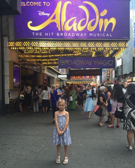 Family visit to Aladdin on Broadway in Manhattan.