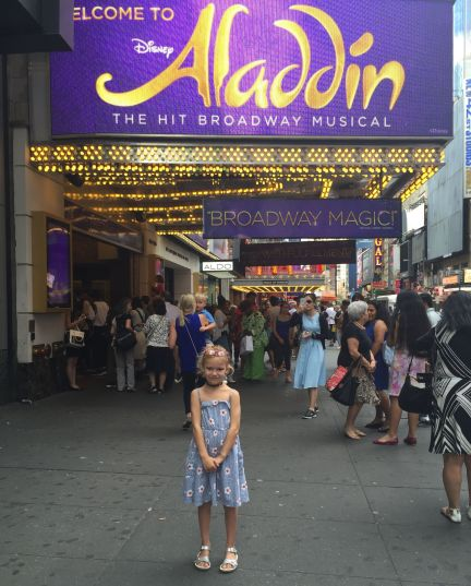 Family visit to Aladdin on Broadway in Manhattan.