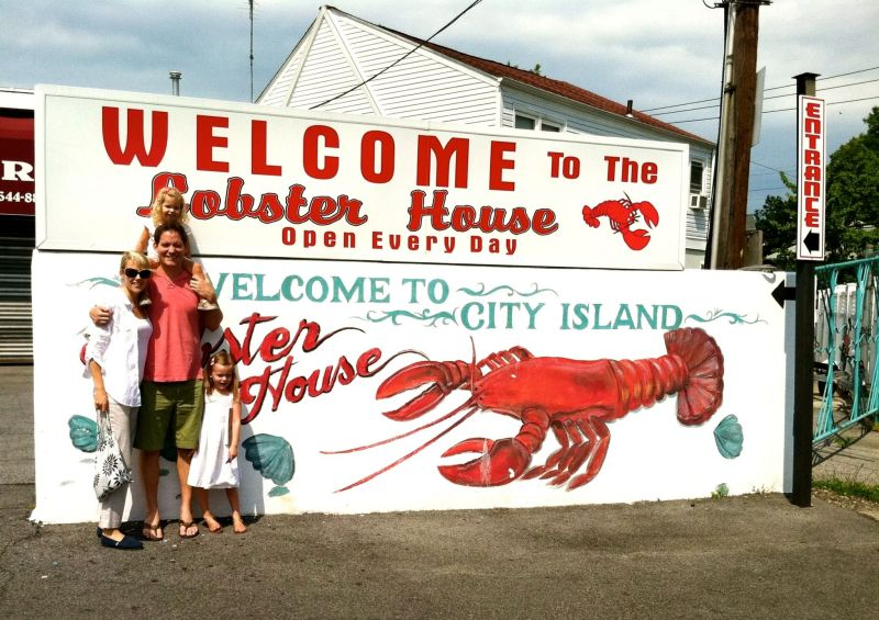 A family lunch at the Lobster House in City Island in the Bronx.
