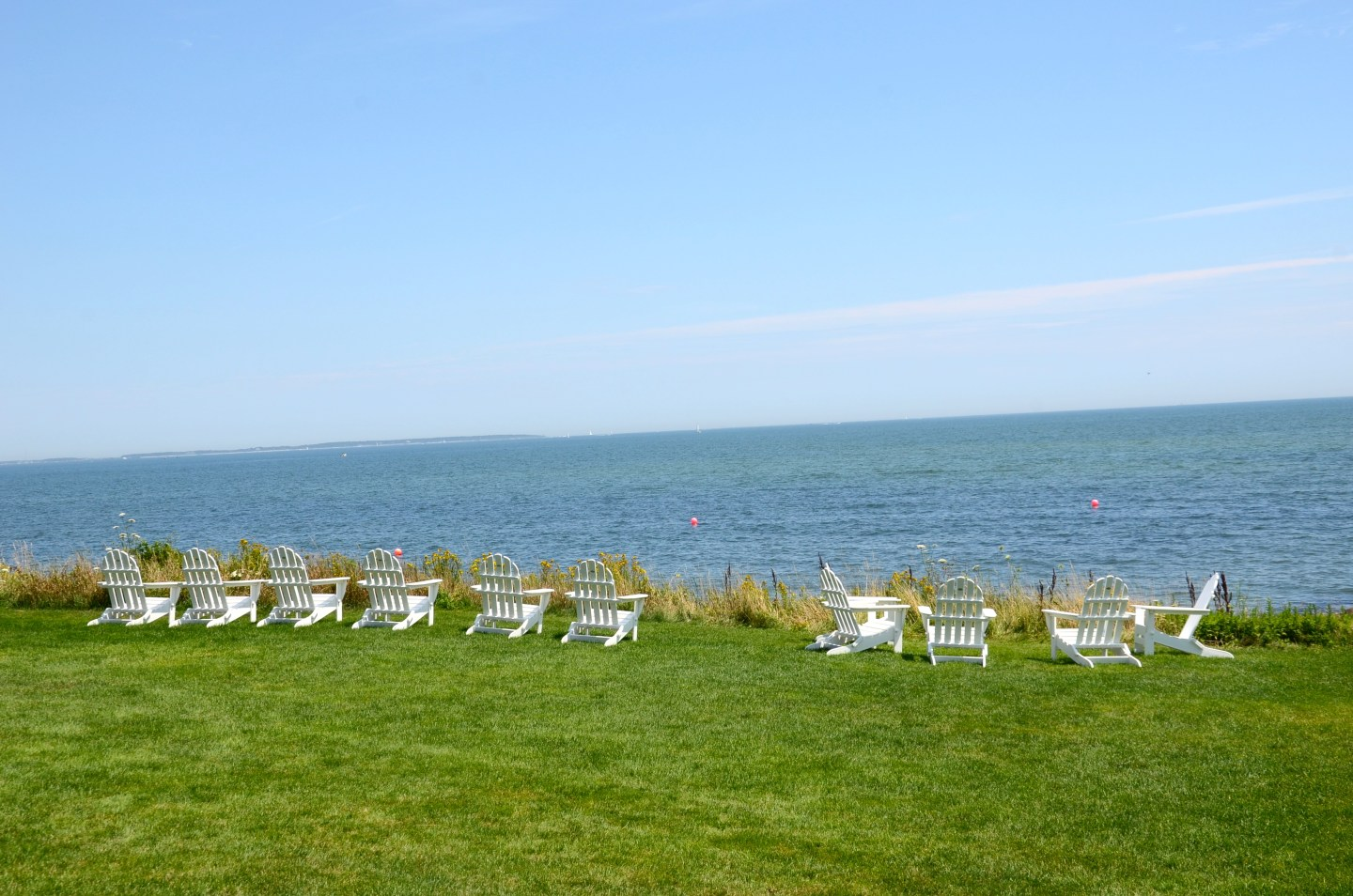 Overlooking the ocean in Osterville, MA.