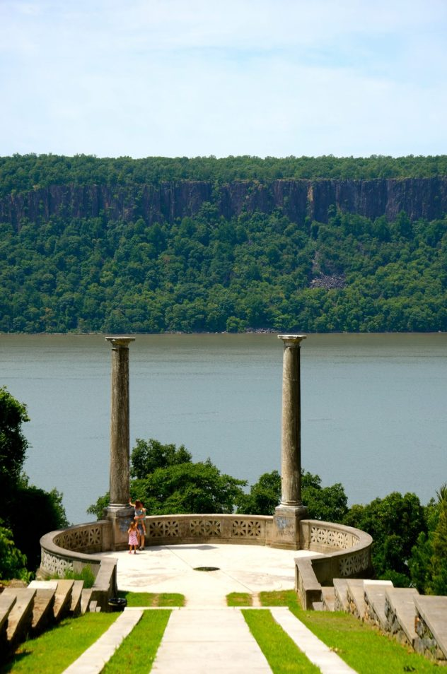 Overlooking the Hudson River at Untermyer Park and Gardens.