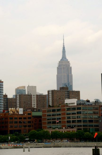 View of Empire State Building from the New York Water Taxi.