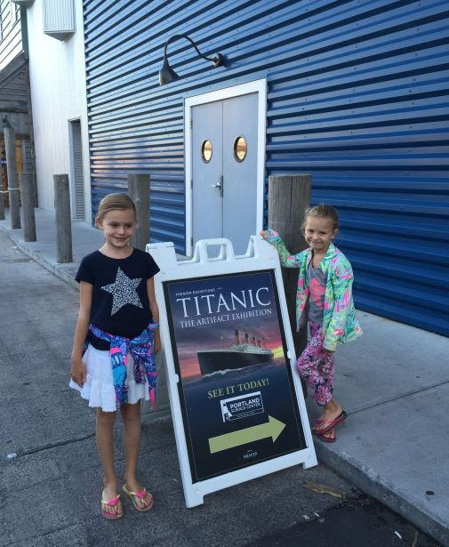 A visit to the Science Museum in Portland, Maine to see the Titanic exhibition.